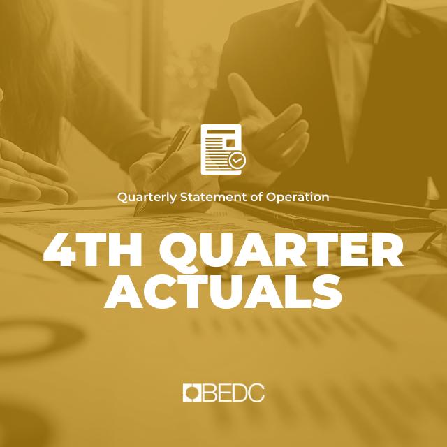 4th Quarter 2018-2019 Actuals